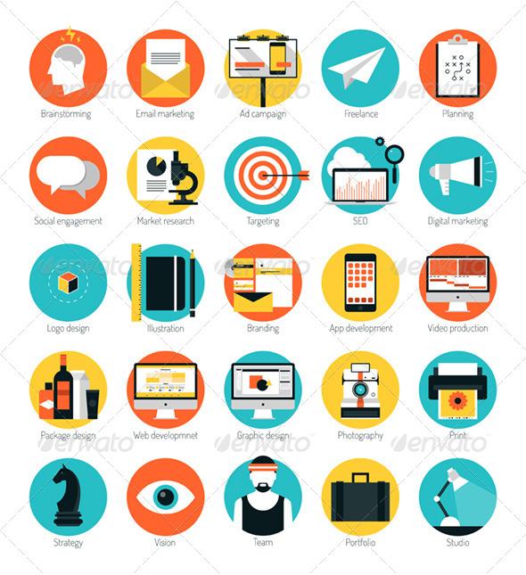 Web Design Services Icons