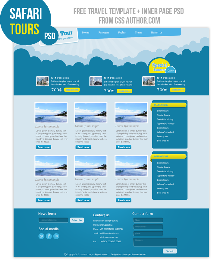 18 website design psd free download images web design for Website layout design software free download