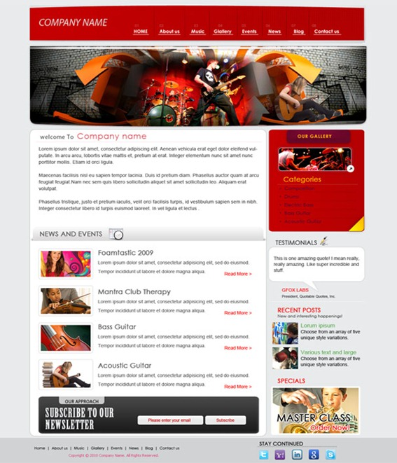 Website Templates Free Download