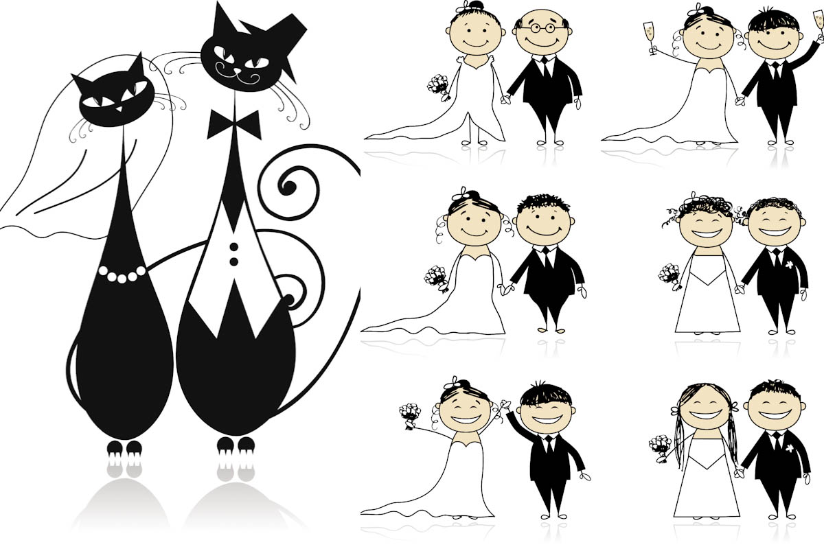 15 Free Wedding Vector Graphics Images