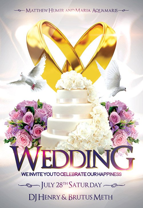 Free wedding flyer psd templates download styleflyers.
