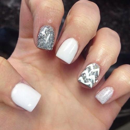 20 White Fingernail Designs Images