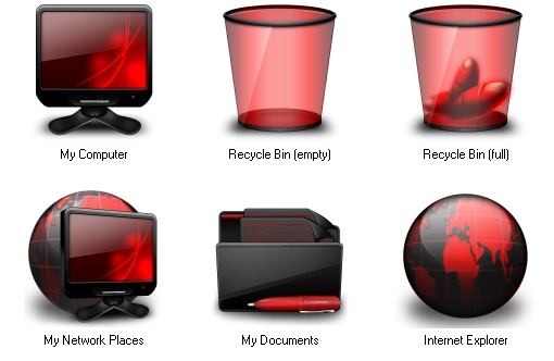 17 Red Windows Icons Images