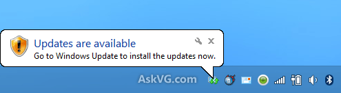 Windows Update Tray Icon