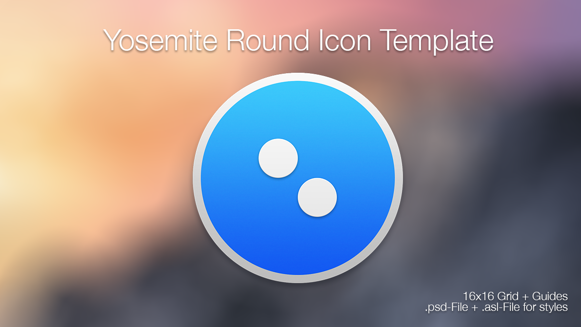 Yosemite Mac Folder Icon Template