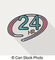 24 Hour Clip Art