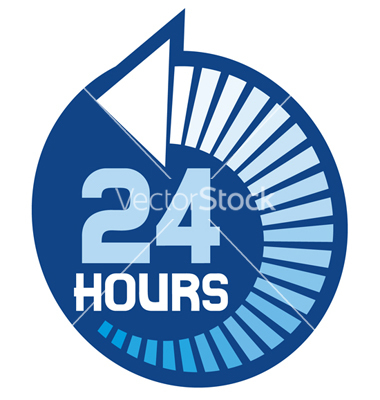 24 Hour Signs Free Vector Art
