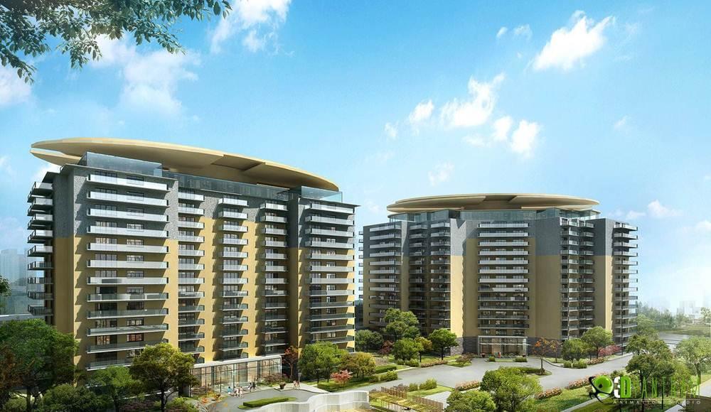 3D Commercial Building Design