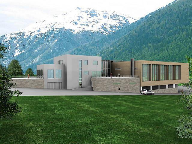 3D Commercial Building Exterior