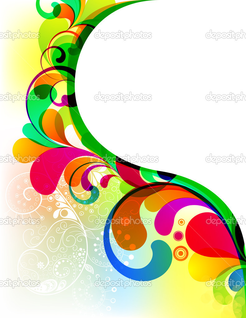 Abstract Picture Frames Design 2 Borders Backgrounds And