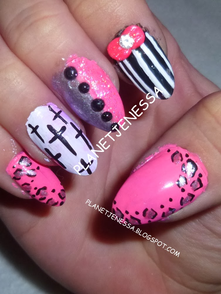 Acrylic Nail Designs with Crosses