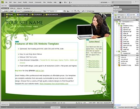 Ungewöhnlich Adobe Dreamweaver Vorlage Zeitgenössisch - Entry Level ...