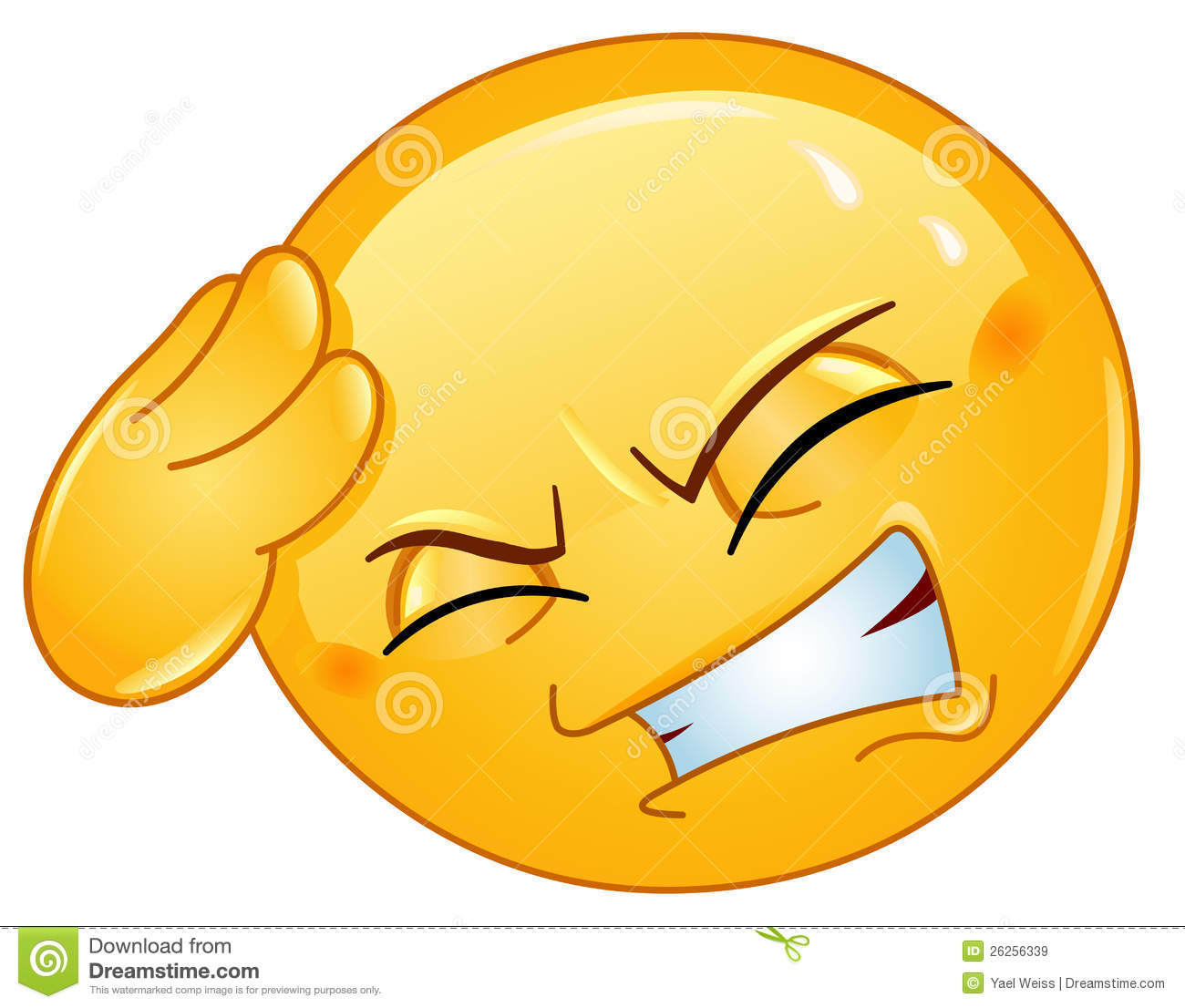 Animated Smiley Emoticons Headache