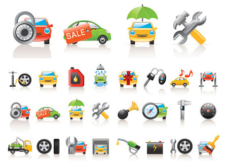 12 Free Vector Car Icons Images