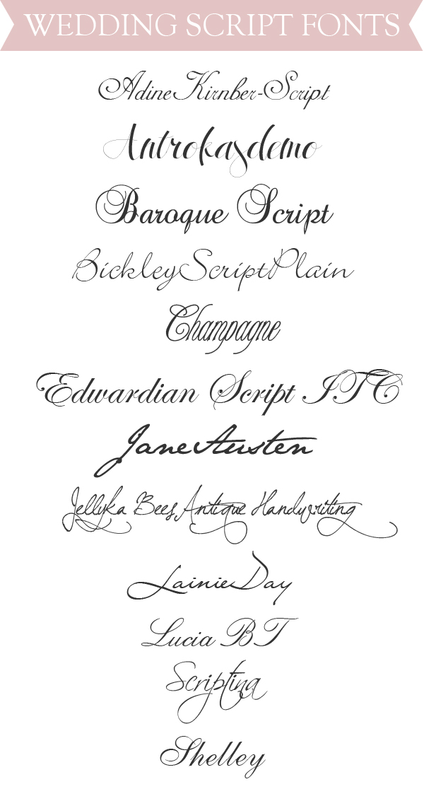 Best Wedding Script Fonts