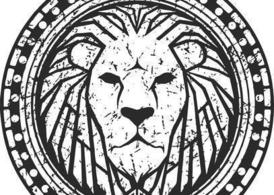 Black and White Lion Logo Vector