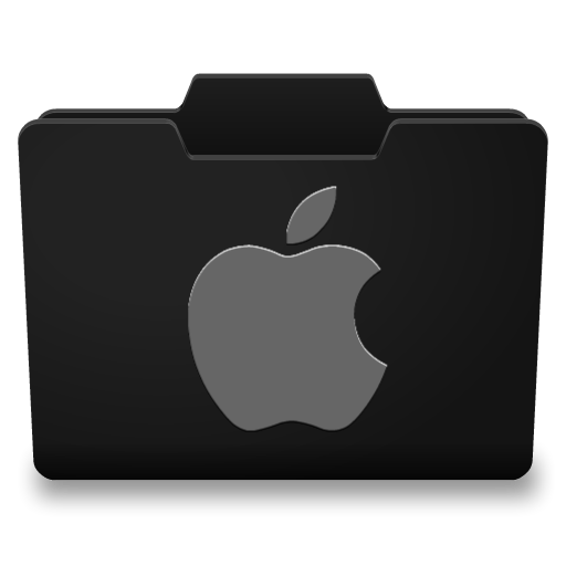 14 Black Folder Icon Mac Images