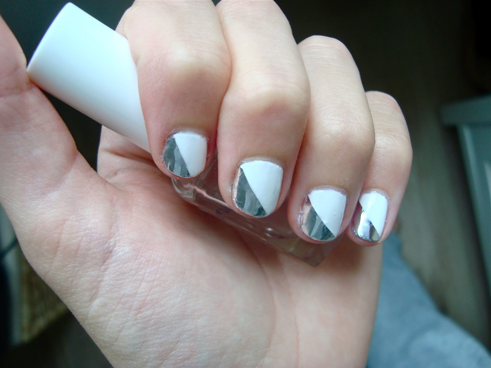 12 White And Silver Nail Designs Images