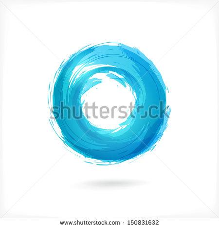 Blue Swirl Circle Company Logo