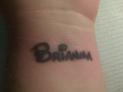 Brianna Name Tattoo
