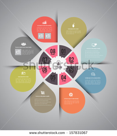 Business Icons Circle Vector