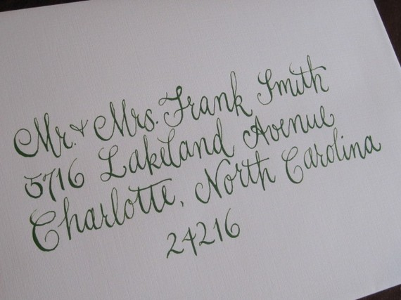 Calligraphy Font Wedding Invitation Envelopes