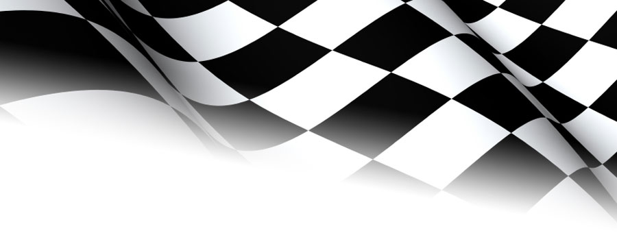Car Logo with Checkered Flag