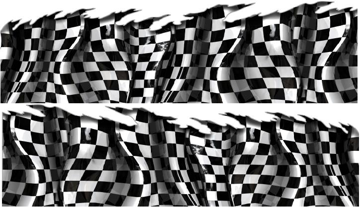 Checkered Flag Decals Graphics