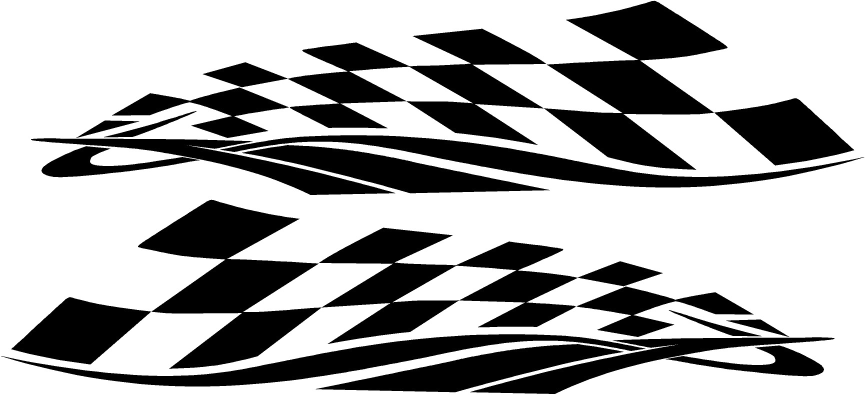 Checkered Flag Vinyl Car Graphics