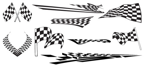 Checkered Flag Vinyl Graphics