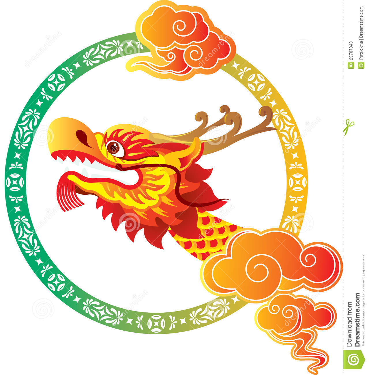 Chinese Dragon Head Clip Art