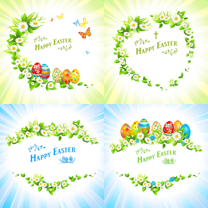 Christian Happy Easter Vector