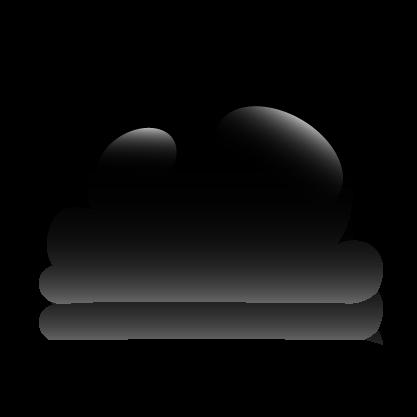 10 Black Cloud Icon Images