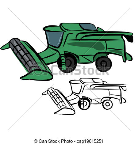Combine Harvester Clip Art Vector
