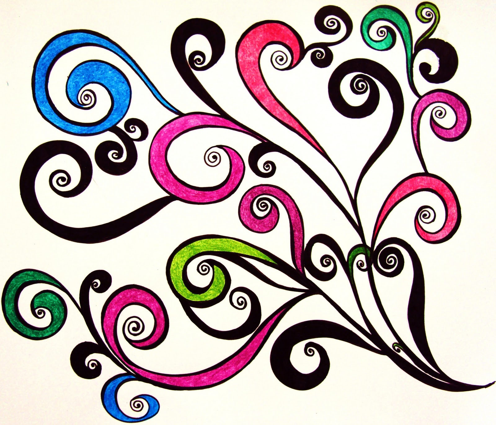 Swirl Art Designs : Cool swirly designs patterns images