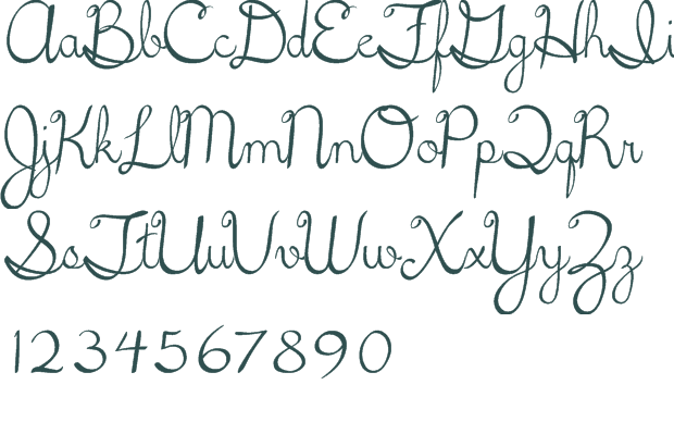 Free Cursive Handwriting Fonts Images