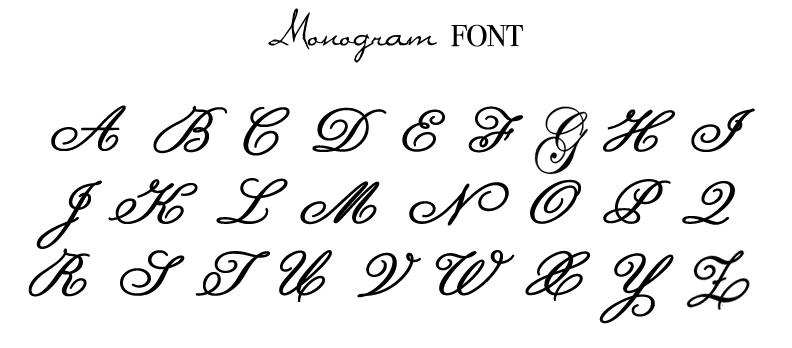 Cursive Letters Fonts