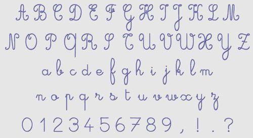 Cursive Monogram Font