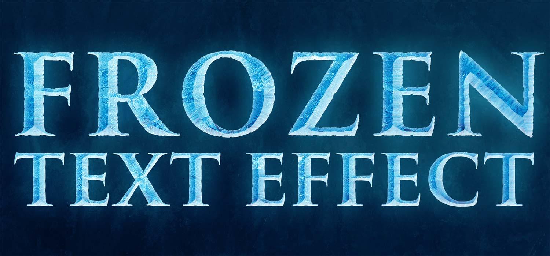 Psd photoshop frozen text images effect