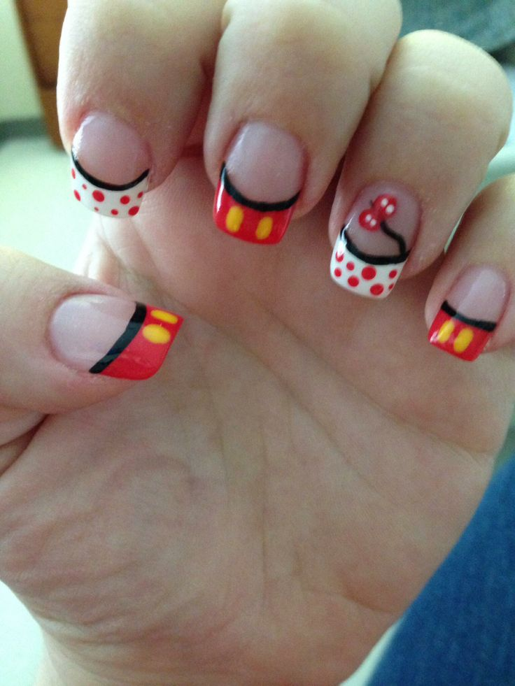 13 Disney Nail Designs Images Disney Nail Design Disney Minnie