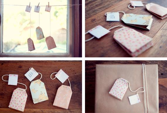 DIY Paper Tea Bag Gift Tags