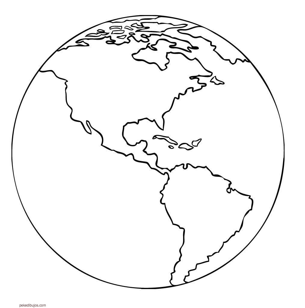 10 Black And White Earth Template Images - Printable Earth ...