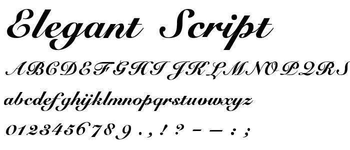 Elegant Script Fonts Free Download