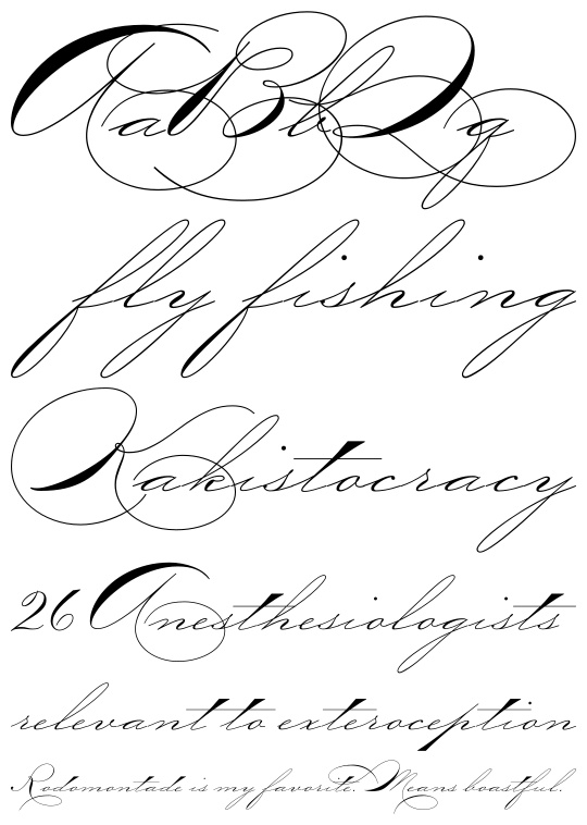 Elegant calligraphy fonts images old english