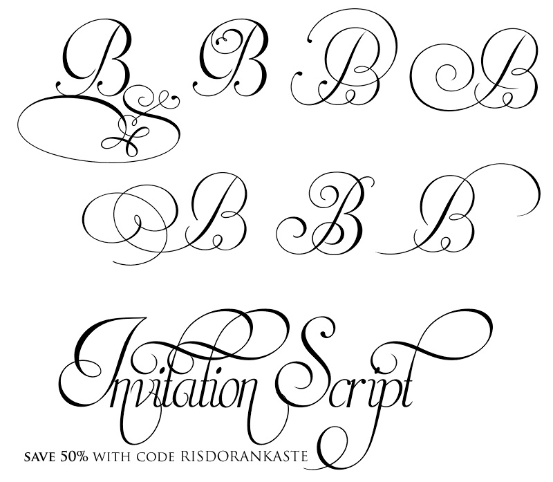Elegant Wedding Invitation Script Fonts