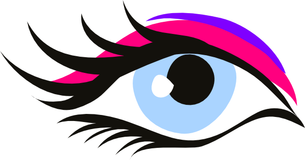 14 Eye With Eye Lashes Vector Clip Art Images