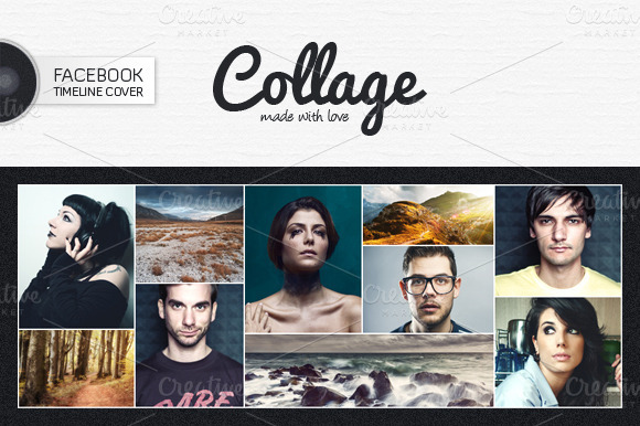 Facebook Cover Collage Template