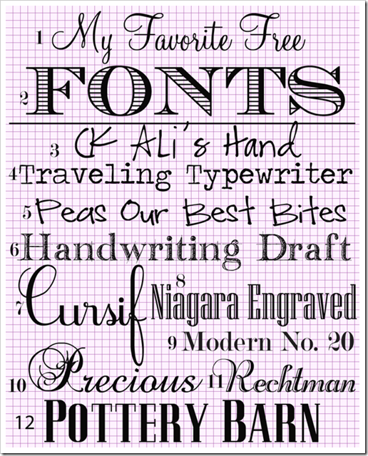 10 Free Word Fonts And Styles Images