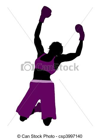 Female Boxer Illustration