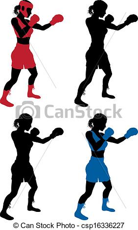 Female Boxing Clip Art Free